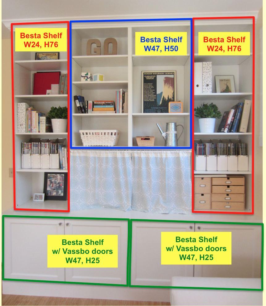 Ikea Hack 2 Besta Built In Family Room Tv Bookshelf