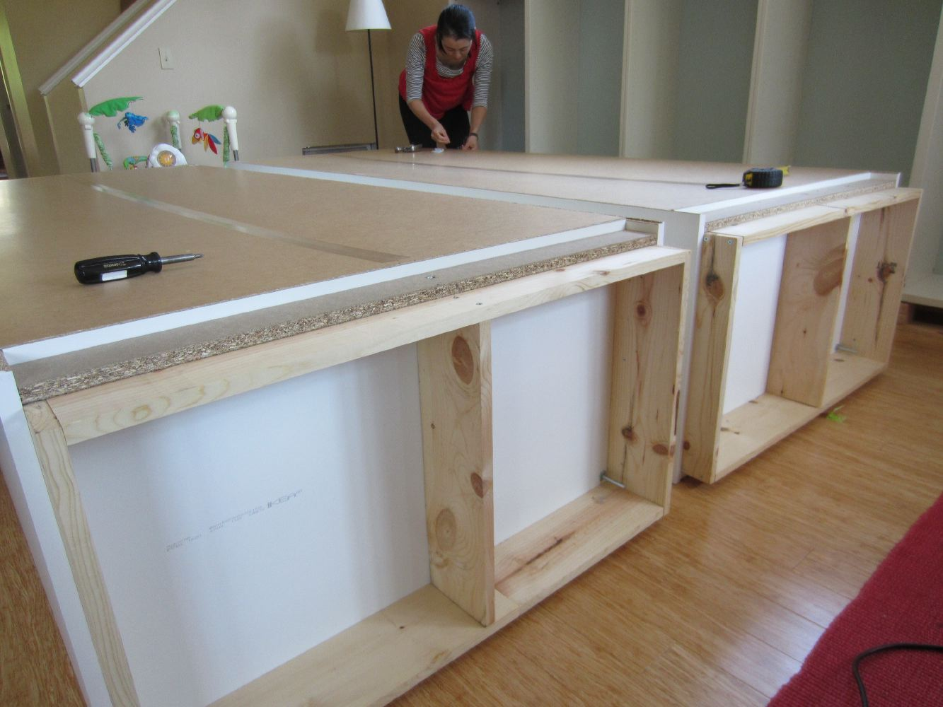 Diy Built Ins Using Ikea Besta Shelves And Pax Wardrobes Shirley Amp Chris Projects Blog