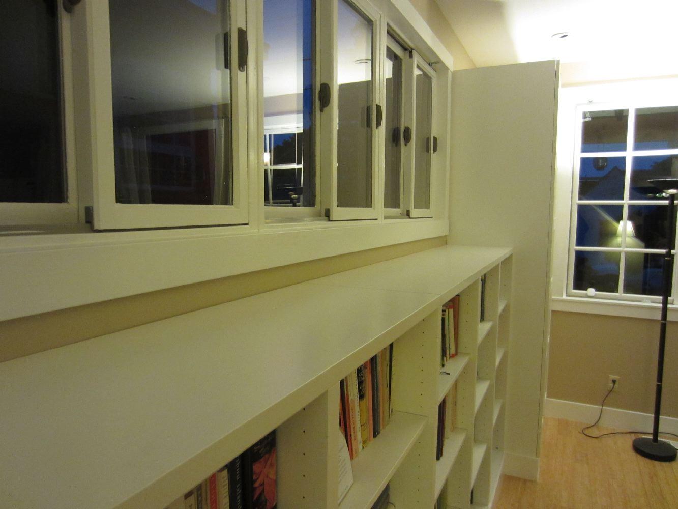 IKEA built-in shelves
